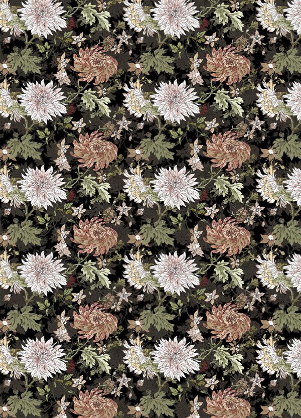 Blomster inineumann #neumann #pattern #germany #wraping #hair #illustration #hamburg #ini #paper #flowers