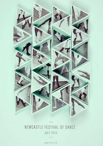 FFFFOUND!   design work life » Amy Rodchester: Newcastle Festival of Dance Posters #pattern #shoes #festival #dance #poster #triangles #feet