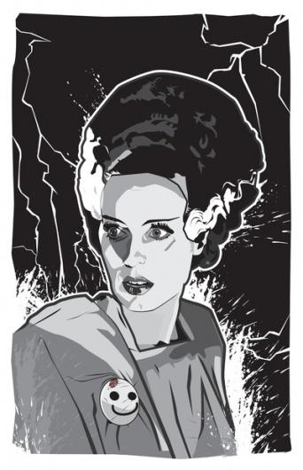 Bride of Frankenstein Art Print by Matt Fontaine   Society6 #vector #girl #frankenstein #of #mgm #matt #digital #fontaine #bride #monster