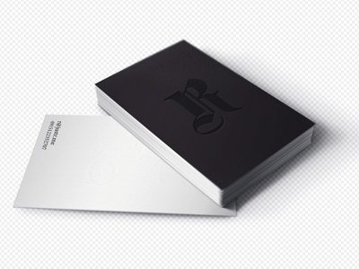 Dribbble - Card for robin by Linda Gavin #white #business #card #black #and