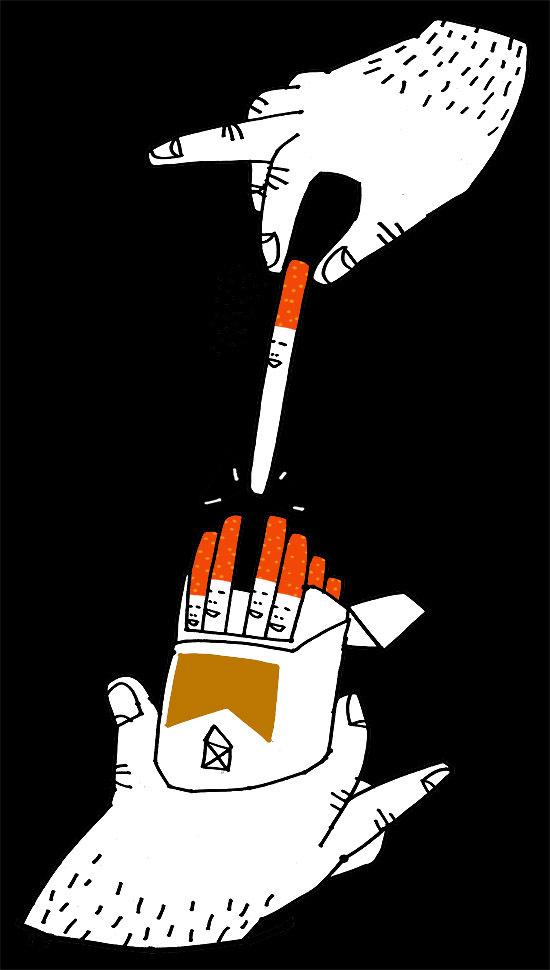 ArtFags_ChosenOne #fag #cigarette #kid #simple #illustratio #acne