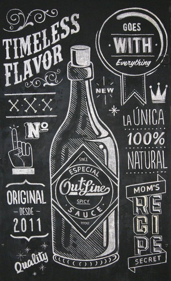 Outline Sauce on Behance #lettering