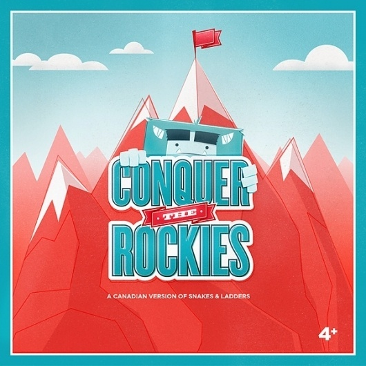 Conquer The Rockies on the Behance Network #packaging #game #illustration #yeti