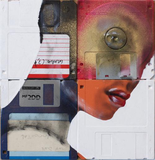 paint on cd #paint