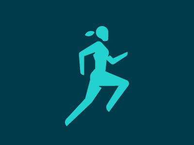 Icon Sport #woman #pictogram #icon #human #running #symbol #sport