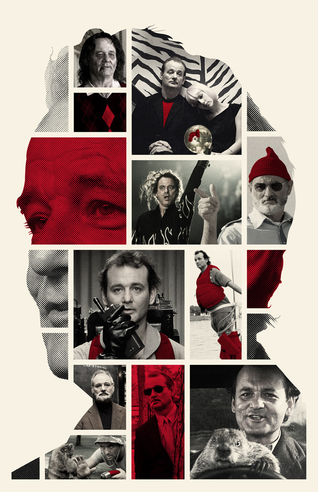 Bill Murray Poster – Created by William Henry