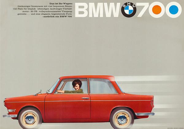 Vintage BMW Poster #red #bmw #simple #cars #vintage