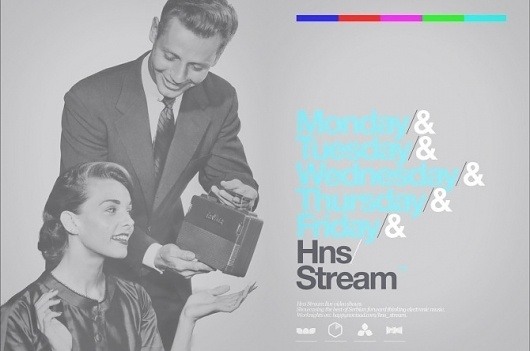 HNS Stream - www.andrijakovac.com #radio #swiss #stream #design #grid #technicolor #helvetica #typography