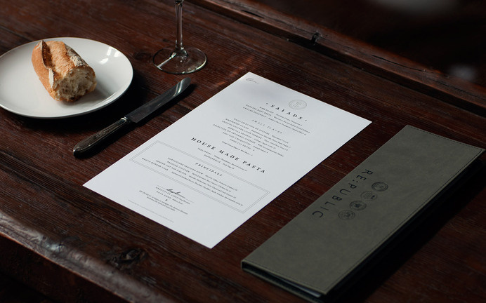 Re:public Restaurant & Bar « Superbig Creative #branding #menu #print #food #restaurant #identity #layout #typography