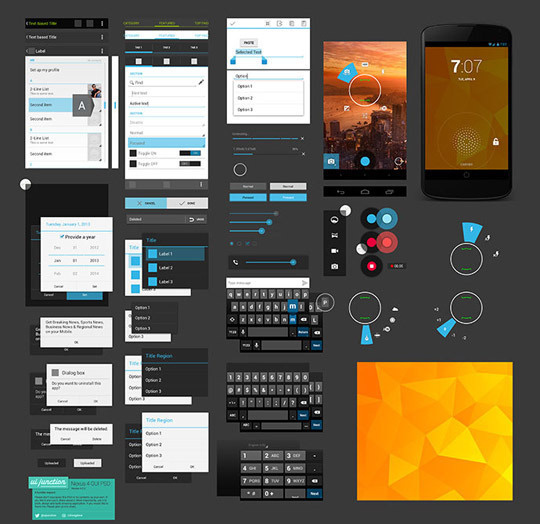 10 Free Useful Android PSD UI Kits #psd #android #ui