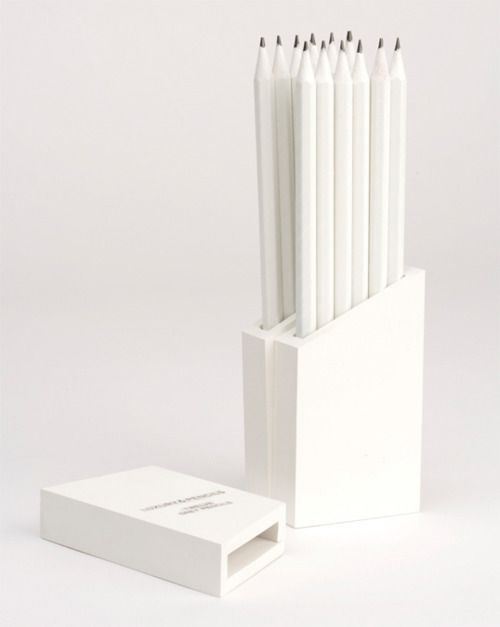 ::PRODUCTS:: minimal white pencils #white
