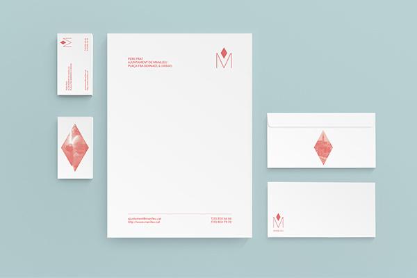 Manlleu | Editorial + Brand on Behance - Judit Musachs #narrative #stationary #branding #elements #design #graphic #synthesis #4 #brand #identity #manlleu #rhombus