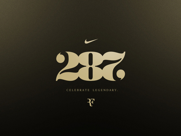 Celebrate Legendary #numbers #type #nike #logo