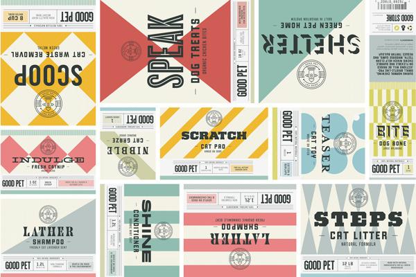 The Good Store on Behance #pattern #branding #stripes #retro #geometric #colors #typography