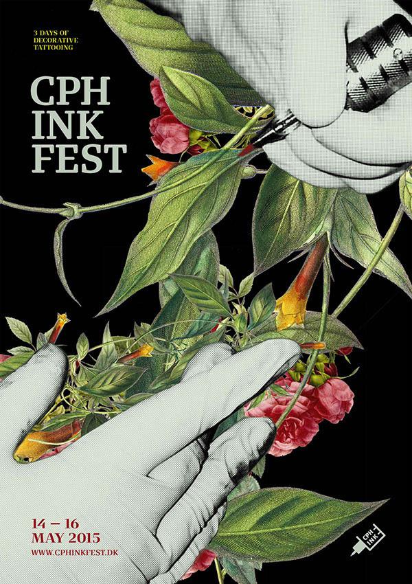 Behance :: Editing Copenhagen Ink Festival #festival #tattoo #poster #decorative #flowers