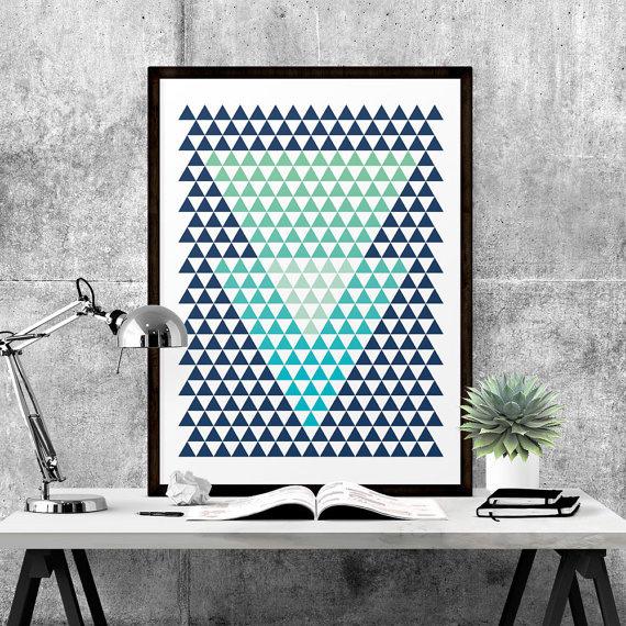 Triangle abstract art. #iloveprintable