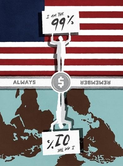 I am - Jon Ashcroft Design & Illustration #globe #ashcroft #flag #jon #occupy #illustration #typography