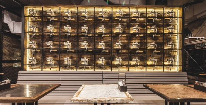 Meatless interior architecture interior bar restaurant vegetarian burea bumblee paris france mindsparkle mag