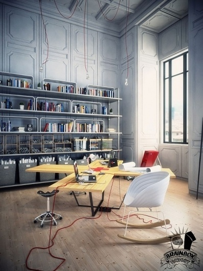 Spaces that inspire solitude, contemplation and creative work #workspace