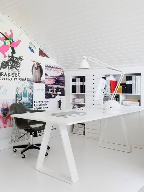 white workspace #white #office #home #desk #minimal