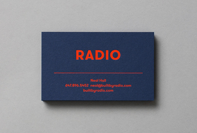 Radio by Tung #business card #graphic design #print