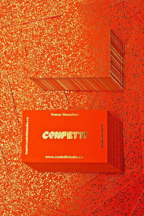 confetti #business card