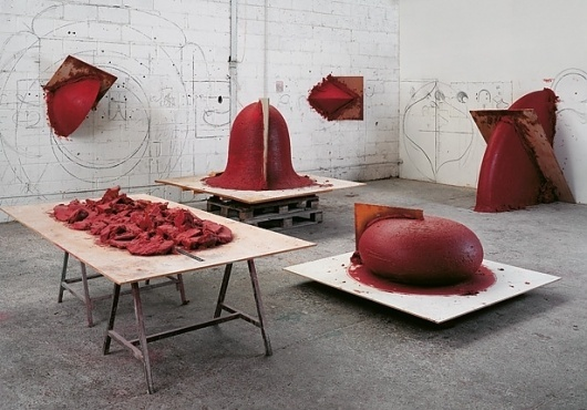Anish Kapoor | Works | Gallery #sculpture #red #installation #museum #kapoor #art #wax #anish