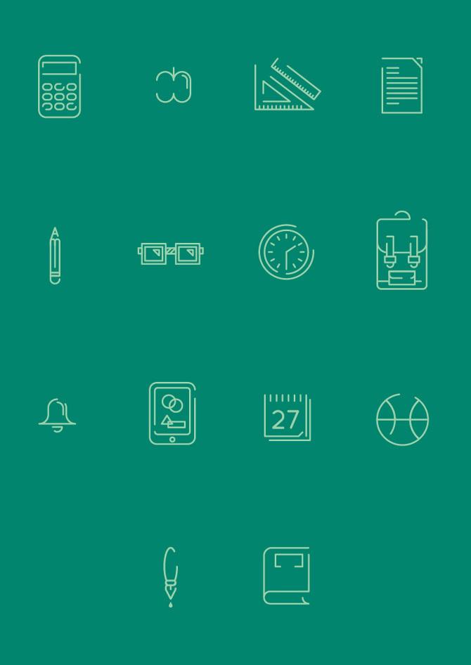 School icons - francescolucchiari #icon #school #sign #picto #symbol