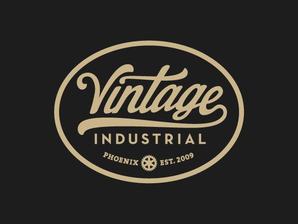 Vintage Industrial #type #badge #vintage #logo