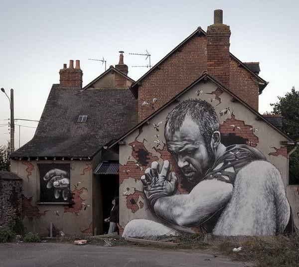 Street Art by MTO #pavement #art #street