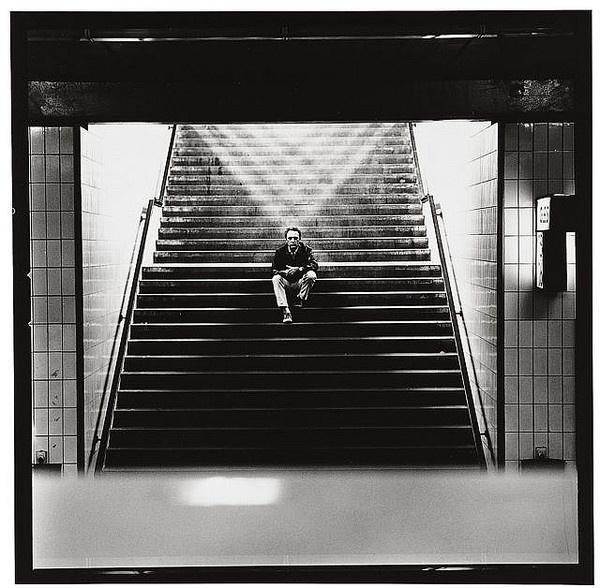 Gerhard Richter crossing of light by Lothar Wolleh #lothar #steps #wolleh #gerhard #richter #shadow