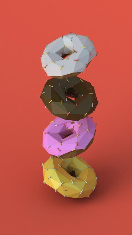 GEO A DAY #3d #doughnuts