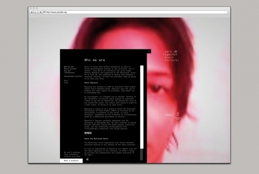 This is Real Art   Projects   Reprieve   zero dB #webdesign