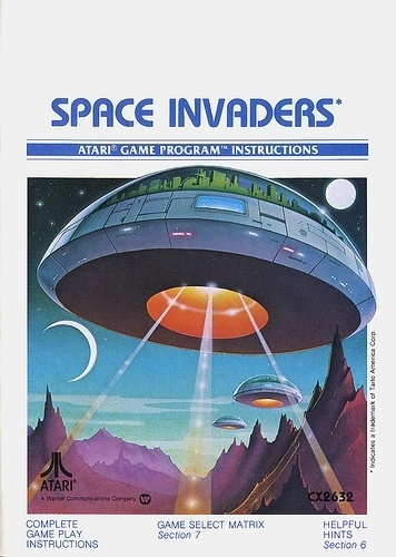 Atari - Space Invaders | Flickr - Photo Sharing! #games #video #illustration #manual #booklet