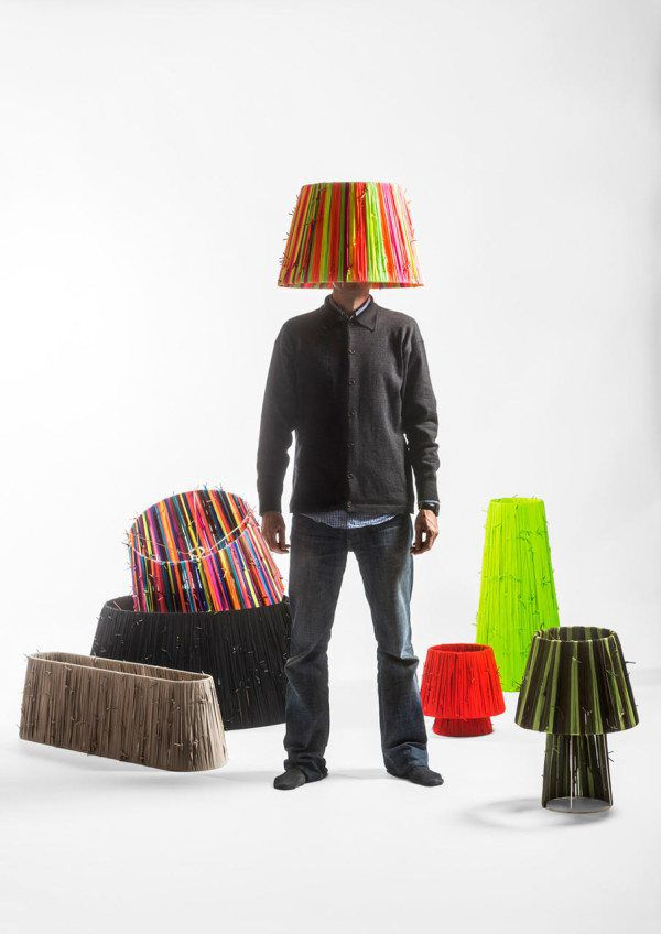 Shoelace Lamp Collection The layering of the energetic colours resulted in an effect which looked persuasively modern and appealing!
