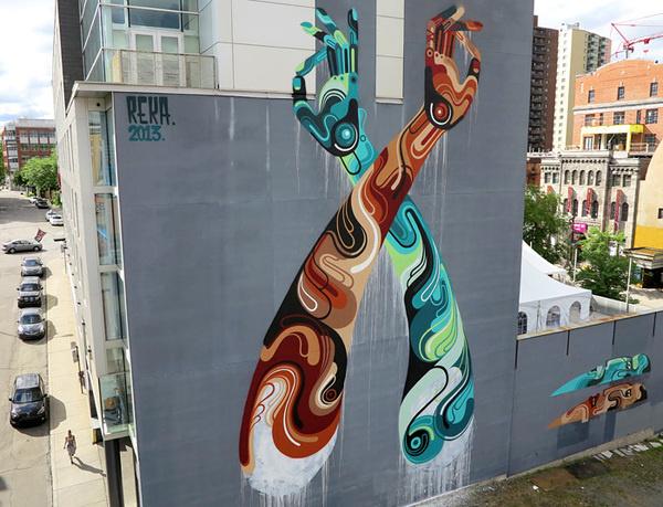 reka - street art #arms #reka