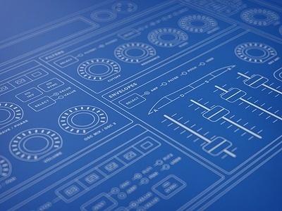 Synth Desktop Hardware Wireframe #interface