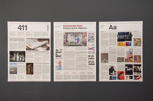The 411 Newspaper : Kristoffer Wilson #design #graphic #newspaper