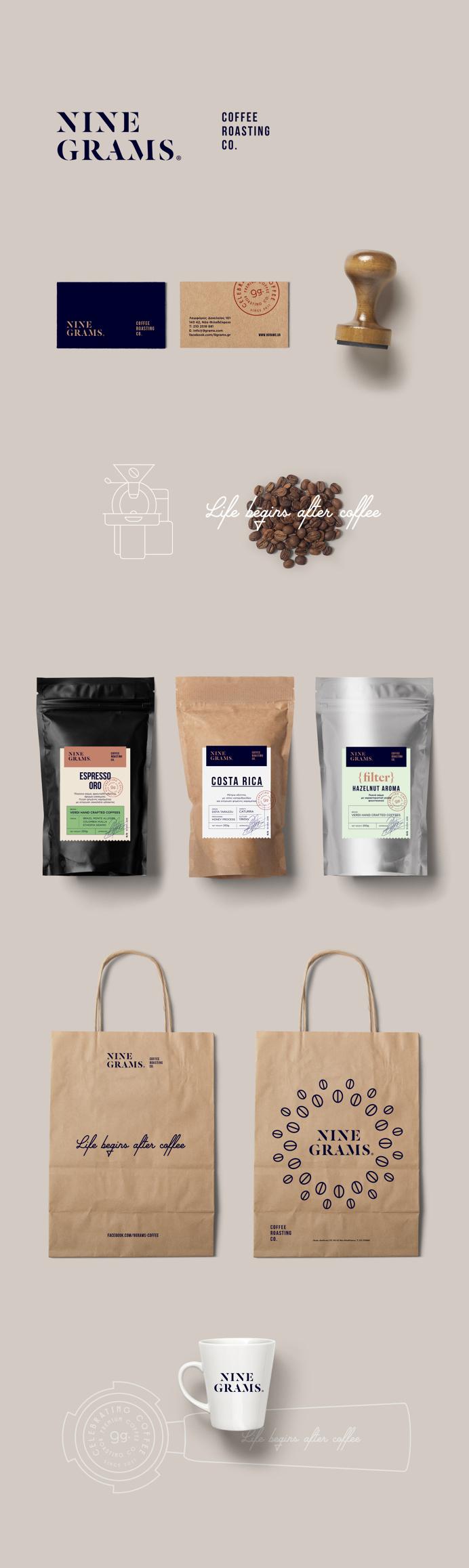 Nine Grams Coffee Roasting Co. on Behance