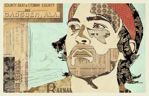 """""""Yeller"""" www.KyleMosher.com #kylemosher #newspaper #hiphop #illustration #portrait #vintage #art #rap"""