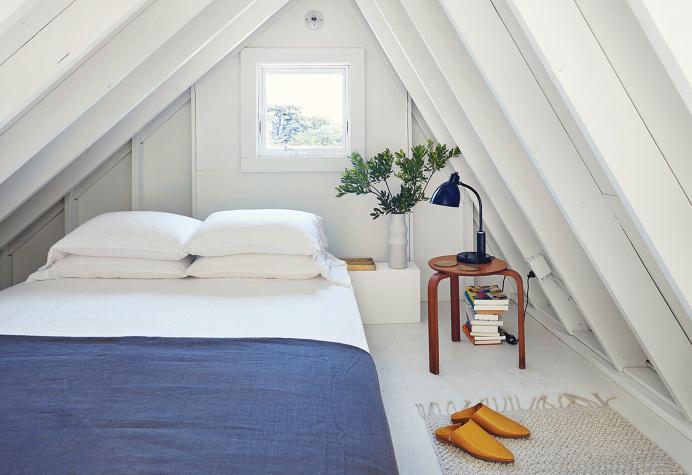Whitewashed attic
