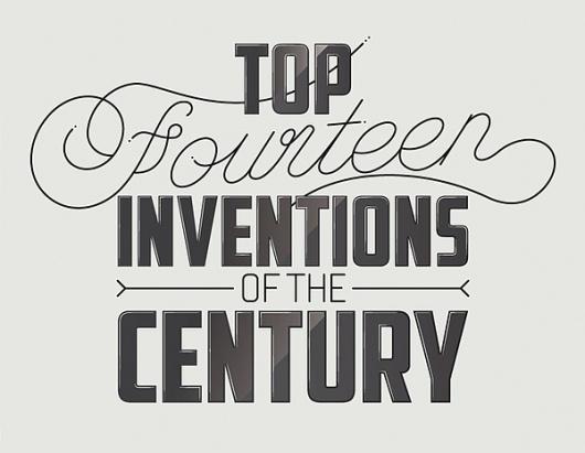 Top fourteen inventions #inventors #typography