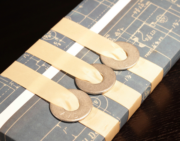 Recycled Materials And Vintage Hardware Make The Best Holiday Gift Wrap!   House Counselor #hardware #giftwrap #ribbon