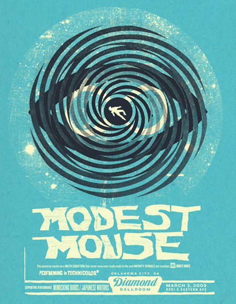 GigPosters.com Modest Mouse Mimicking Birds Japanese Motors #screen #gig #print #poster