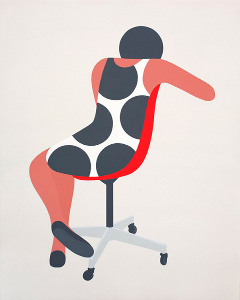Geoff McFetridge | PICDIT #design #graphic #simple #painting #art