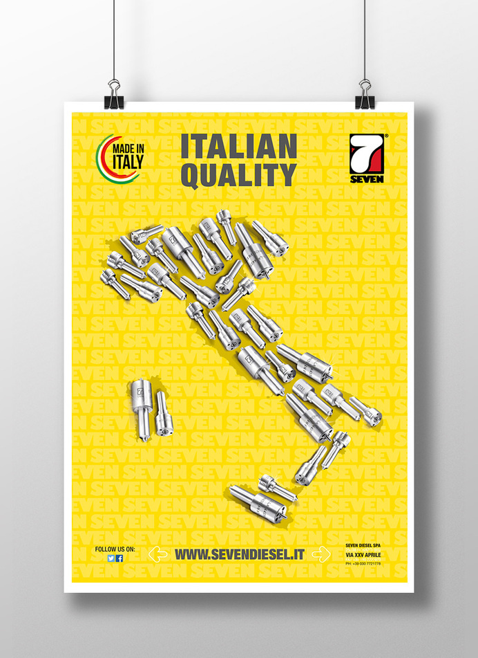 Poster #truck #steel #injectors #photomontage #mechanics #diesel #petrol #poster #car #italy #race