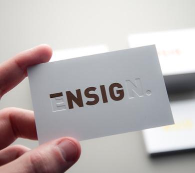 Ensign #design #logo #identity #creative #business card #deboss #brand #business #card #emboss #gsm #postiiv