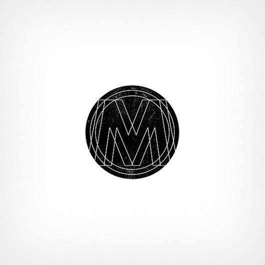 Band Job :: Music Art & Awesome Design :: Logo #album #kaufman #moving #mountains #art #music #logo #sam #band #waves #typography