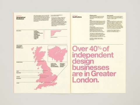 FFFFOUND! | The Consult – SI Special | September Industry #newsprint #pink #info #graphics #typography