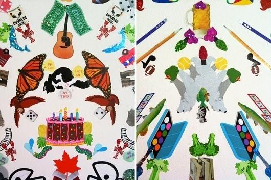 KRISATOMIC #flat #pattern #vernacular #sticker #wallpaper #collage